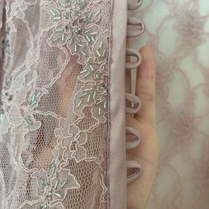 JS Collections Jackets & Coats - Pink Lace Shrug/Bolero Jacket